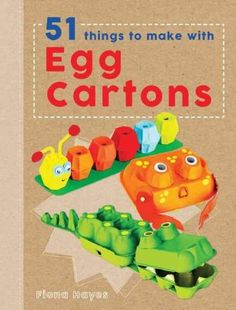 Crafty Makes is perfect for those with acreative, crafty streak eager to put their skillsto task on recyclable materials in the home. The first in the series, 51 Things to Make with Egg Cartons , tran