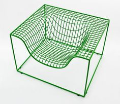 Steel armchair with armrests GRID by Nola Industrier design Komplot Design
