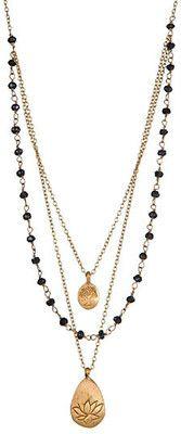 Satya Jewelry Onyx Graduated-Strand Necklace