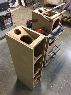 Audio Box, Pro Audio Speakers, Diy Speakers, Hifi Audio, Diy Subwoofer, Subwoofer Box Design, Speaker Box Design, Home Theater Design, Home Interior Design