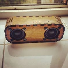 Read all about these beautiful laser cut portable bluetooth speakers and learn to make your own.