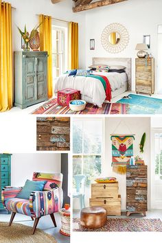 Cheap Home Decorations For Sale Indian Home Decor, Diy Home Decor, Mexican Home Decor, Mexican Bedroom Decor, Mexican Interior Design, Colorful Apartment, Dream Rooms, My New Room, Home Decor Inspiration