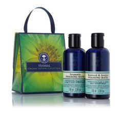 NEW Herbal Organic Bathing Collection - Transform a bath into a pure aromatherapy-infused bathing indulgence with this beautifully fragrant gift. Organic Beauty, Organic Skin Care, Bath And Shower Products, Neals Yard Remedies, Organic Supplements, Organic Living, Natural Home Remedies, Neal's Yard, Aromatherapy