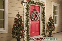 Resultado de imagen para decoracion de puertas navideñas