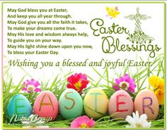 Easter Blessings! Wishing you a blessed  and joyful Easter.