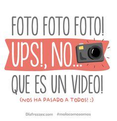 Foto, foto, foto! Ups! No... que es un video. www.disfrazzes.com ❤ #MolaComoSomos