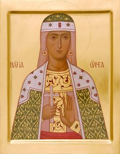 Holy Princess Olga - Icons from the Workshop of St. Elisabeth Convent - Handmade…