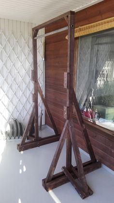 bench squat pull-up station diy