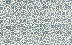 Andaluz in Delft from Carolina Irving Textiles #fabric #hemp #blue