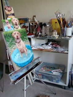 MUDDY WATERS custom Pet Portrait Oil Painting by puciPetPortraits