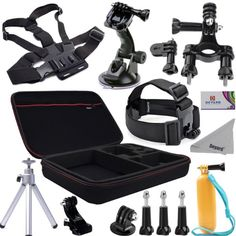 Was £49.99 > Now £25.99.  Save 48% off Deyard ZG-645 15pcs GoPro Accessories Mount Kit Bundle for GoPro Hero 2/3/3+ Hero4 Session Hero 4 Silver Black: Head Strap +Chest harness w/ J-Hook Mount +Car Suction Cup w/ Adapter +Bike Mount +Case XL +Aluminum Tripod +Deyard Float Grip +Cleaning cloth #5StarDeal, #Accessories, #CameraPhoto, #DigitalCameraAccessories, #DockingStations, #LowestEver, #Under50