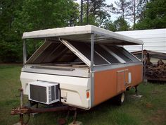 "1976 apache ramada ""hardside"" pop-up camper. Pop Up Camper Trailer, Pop Up Truck Campers, Tiny Camper, Popup Camper, Camper Trailers, Micro Campers, Pop Up Caravan, Caravan Ideas, Rv Trailer"
