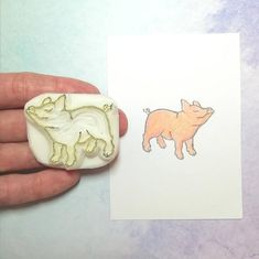 Scrapbooking, Grave, Kawaii, Boutique Etsy, Tampons, Accessories, Day Planners, Cute Pigs, Ink Stamps