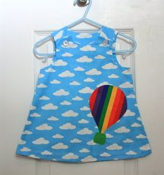 Happy Clouds Baby Dress - Size 6-12 M