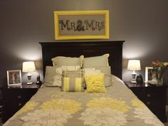 Lovely Yellow And Grey Bedroom...Brooks...by The Wife*