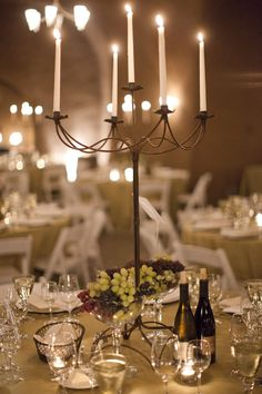 vineyard inspired table setting.
