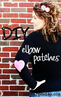 Update an older sweater for Fall & Winter! DIY elbow patches {easy!} via Nest of Posies
