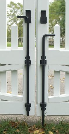 Use a cane bolt to hold open or closed a door or gate. Cane bolts are essential for a double gate and very helpful for interior and exterior doors.