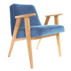 News+Lovely+Market+-+Fauteuil+design,+velours+bleu++-+Fauteuil+design+scandinave,+366+Concept...
