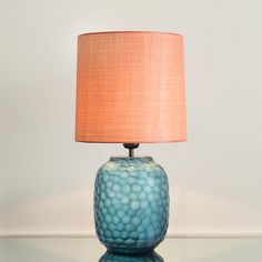 the apartment - Beautiful table lamp in faceted glass and exquisite shade
