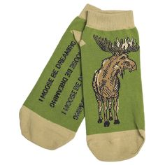 I moose be dreaming! *Grins* Hatley No-Slip Ankle Socks (For Women) in Moose Country I Moose Be Dreaming