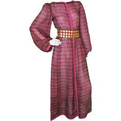 Preowned 1970s Givenchy Haute Couture Gown No. 58249 ($1,600) ❤ liked on Polyvore featuring dresses, gowns, brown, purple ball gowns, brown dress, pre owned evening gowns, purple gown and purple evening gowns