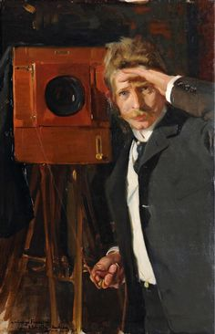 Joaquin Sorolla - The Photographer 1903  Wow. So strong.