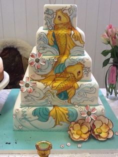 painted cake - Google Search