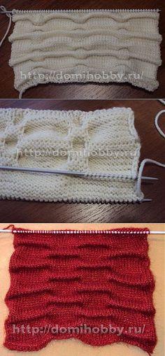 Вязание спицами с эффектом «клоке».   узоры спицами   Постила