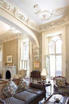 Historic Home in Savannah Georgia - love the molding details!