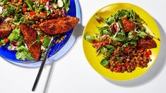 Some dinner salads will leave you hungry. Not this one, which offers plant-based protein and smoky russet wedges.