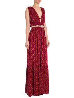 Vestido Longo Nubela - Farm - Vermelho - Shop2gether