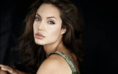 Download wallpapers Angelina Jolie, portrait, make-up, tattoos, american actress, beautiful eyes, face