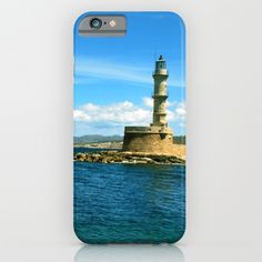 Chania, Crete, Greece, lighthouse, light, sea, ocean, ship, boats, nature, landscape, waves, blue, horizon, sky, clouds, cloud, land, landmark, stone, Greek, fresh, summer, way, mountain, background, nature, natural, house, port, island, spring, season, phone case
