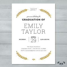 Graduation Invite Graduation Party by PandafunkCreations