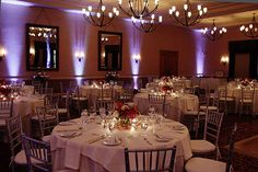 So romantic! These 12 uplights added a gorgeous, upscale feel to this wedding. Rent your event lighting from #diyuplighting -- $19/light + free delivery!