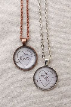 Custom Personalized Birch Tree Carved Necklaces - Perfect for Valentines Gift