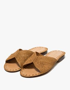 From Carrie Forbes, a minimalist sandal in Mustard. Featuring a handwoven raffia upper, Italian leather sole, branded insole and a slightly stacked heel.  • Sandal in Mustard • Handwoven raffia upper • Italian leather sole • Branded insole • Slightl