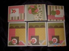 Collection of quick and easy card to make. Love this paper!Made By Tabbi Fritz, CTMH consultant. www.adhesiveaddict.com
