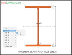 CAD Format:      AutoCAD 2013  Block Type:         1 2D Dynamic (30 Lookup Tables)  Units:                    mm  Description:  A dynamic block made using the EN 10025 Grade S355 Tables.  The block is parametric and uses lookup tables to produce 30 different blocks. The block can be edited to user dimensions with the standard AutoCAD Properties editor Autocad, Steel Properties, Cad Blocks, Type 1, Editor, Beams, 2d, Tables, The Unit