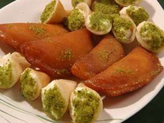 The Food - In Jordan during fasting qatayef is one of the favorites. (Dessert)