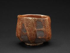 Lisa Hammond    Red Shino Faceted Chawan  , 2013 Crank clay thrown cut and stretched,