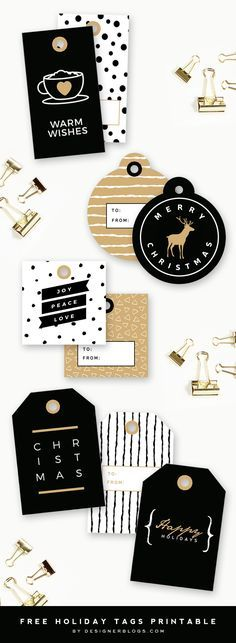 These Free printable Christmas tags are too cute!!