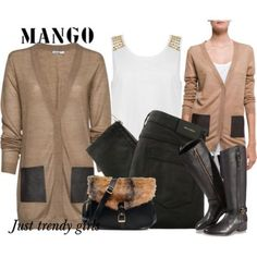 mango cardigan in neutral tone