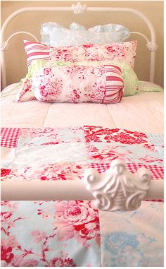 This is my exact bed (except King).  I love the cottage linens !
