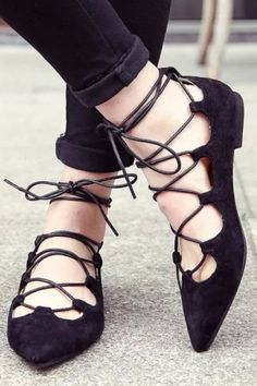 Lace-Up Flats by Billy Ella #anthroregistry