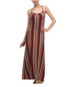 Love this Rust & Mint Stripe Maxi Dress on #zulily! #zulilyfinds