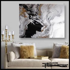 Resin coated Limited Edition giclee on canvas - TRIBUTARY - 48 X 36 X 1.5 by ELOISExxx