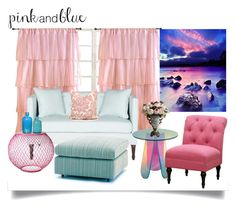 """""""Pink And Blue"""" by jeneric2015 ❤ liked on Polyvore featuring interior, interiors, interior design, home, home decor, interior decorating, Ballard Designs, Tadpoles, Safavieh and Knoll"""
