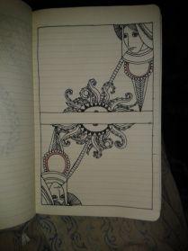 two women tentacles adrawingaday moleskine project
